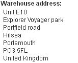 Warehouse address